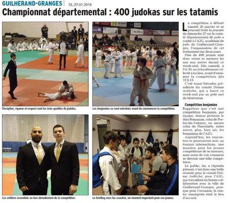 Dauphiné Libéré du DL-27-01-2019- JUDO Guilherand