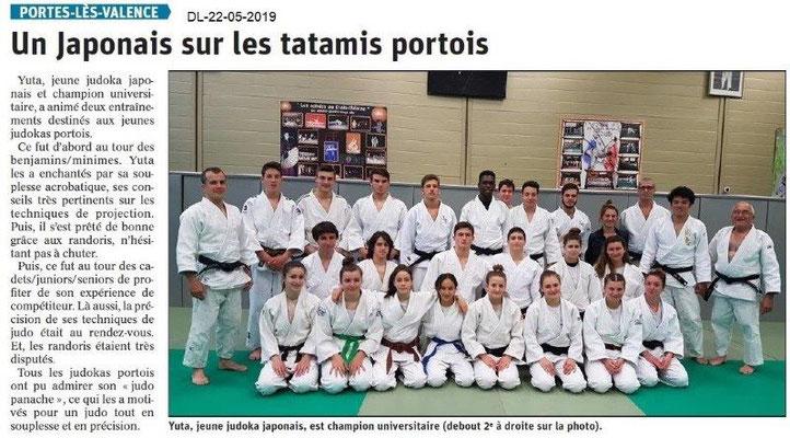 Le Dauphiné Libéré du 22-05-2019- Judokas Portois