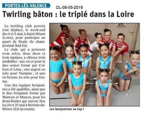 Le Dauphiné Libéré du 08-05-2019- Twirling portois