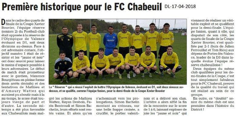 Dauphiné Libéré du 17-04-2018-Foot La Réserve-Chabeuil