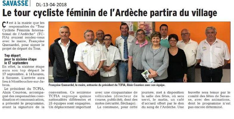 Dauphiné Libéré du 13-04-2018-Etape Tour Cycliste féminin-Savasse