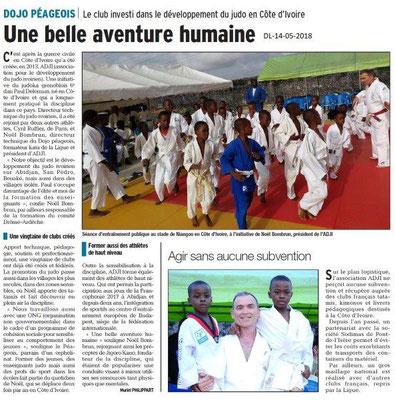 Dauphiné Libéré du 14-05-2018-Dojo Péageois
