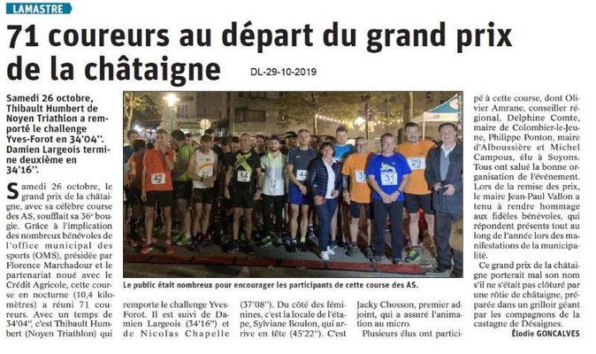 le Dauphiné Libéré du 29-10-2019- Lamastre