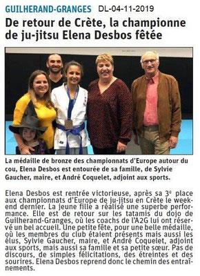 Le Dauphiné Libéré du 04-11-2019- Ju-jitsu de Guilherand.