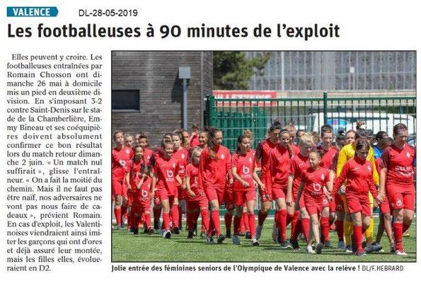 Le Dauphiné libéré du 28-05-2019- Les fooballeuses de Valence
