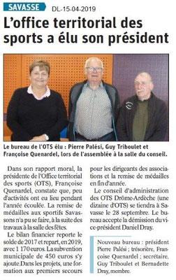 Le Dauphiné Libéré du 15-04-2019- OTS Savasse