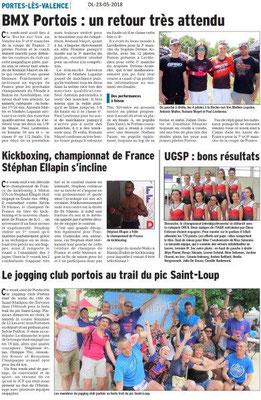 Dauphiné Libéré du 23-05-2018- Des Sportifs Portois