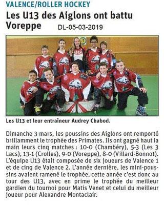 Le Dauphiné Libéré du 05-03-2019-Roller hockey de Valence