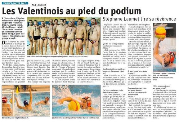 Le Dauphiné Libéré du 21-05-2019- Water Polo Valence