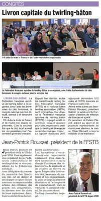 Dauphiné Libéré du 06-03-2018 Congrès TWB-Livron