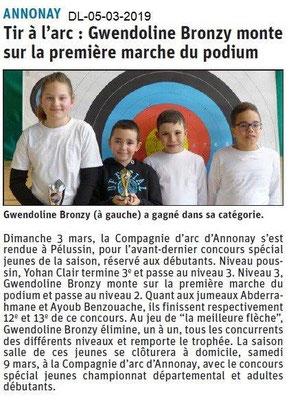 Le Dauphiné Libéré du 05-03-2019-Tir à l'Arc d'Annonay