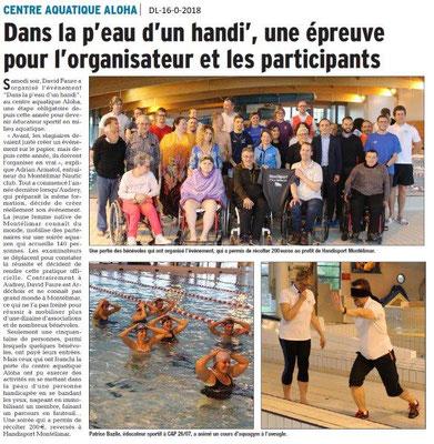 Dauphiné Libéré du 16-04-2018-Journée natation Handisport Montélimar