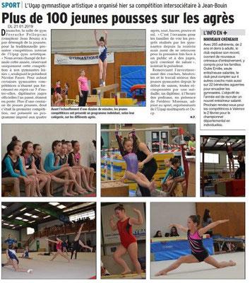 Dauphiné Libéré du 21-01-2019- Bourg de Péage-UGAP GYM