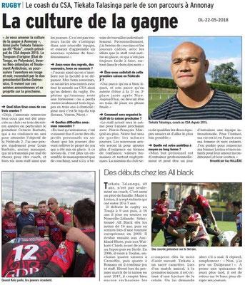 Dauphiné Libéré du 22-05-2018-Rugby Annonay