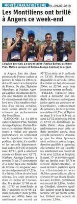 Dauphiné Libéré du 09-07-2019- Athlétisme de Montélimar