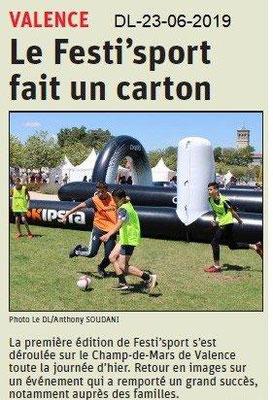 Dauphiné Libéré du 23-06-2019- Festi'Sport
