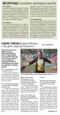 Dauphiné Libéré du 10-06-2019-2- Réforme du Sport suite