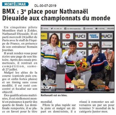 Dauphiné Libéré du 30-07-2019- BMX de Montélimar