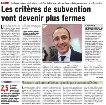 Dauphiné Libéré du 05-03-2018 Département de la Drôme