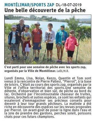Dauphiné Libéré du 18-07-2017- Pêche ZAP-Sport-Montélimar