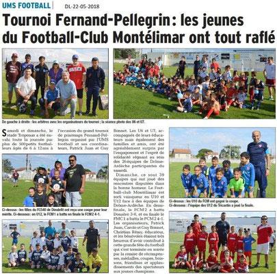 Dauphiné Libéré du 22-05-2018- Foot Montélimar