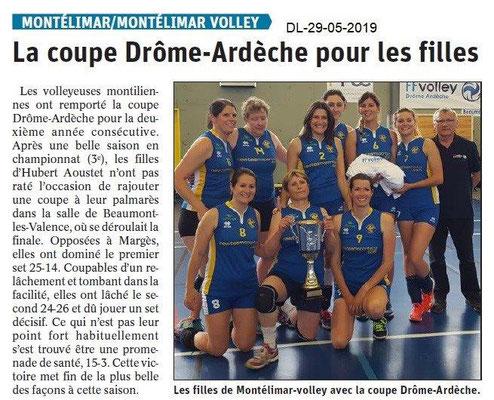 Le Dauphiné libéré du 29-05-2019- Volley de Montélimar