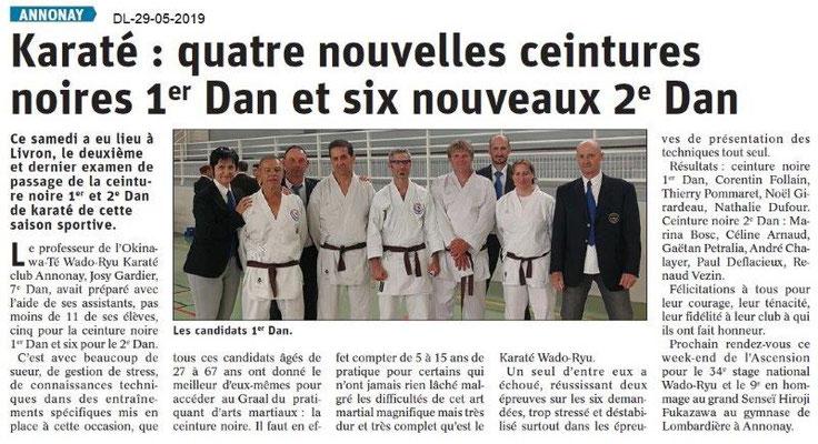 Le Dauphiné libéré du 29-05-2019- Karaté d'Annonay