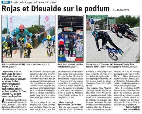 Dauphiné Libéré du 18-06-2019- Finale BMX Chabeuil