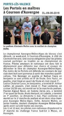 Le Dauphiné Libéré du 09-05-2019- BMX Portois