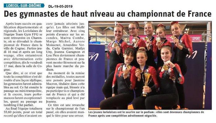 Le Dauphiné Libéré du 19-05-2019- Gym Loriol