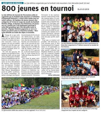 Le Dauphiné libéré du 01-06-2019- Tournoi Football