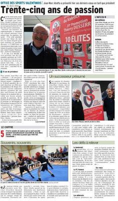 Dauphiné Libéré du 26-01-2019- 35ans à l' OSV Jean-Marc Abattu