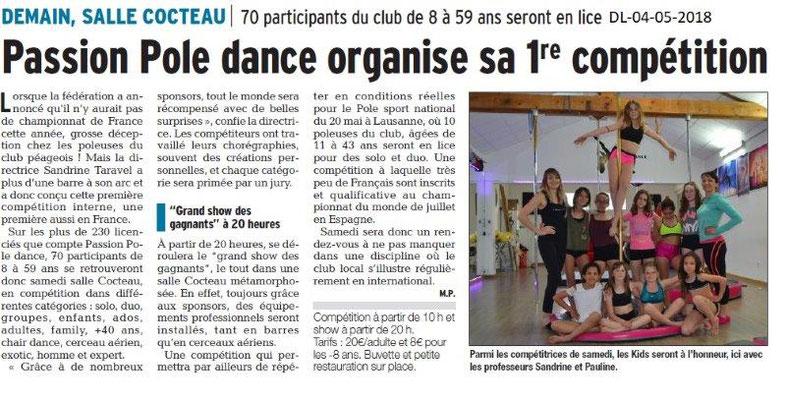Dauphiné Libéré du 04-05-2018- Passion Pole Dance-Bourg de Péage