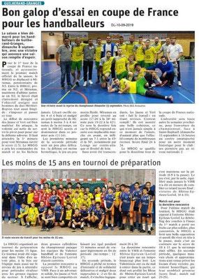 Dauphiné libéré du 10-09-2019- Handball de Guillerand