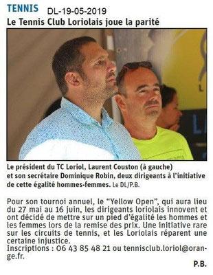Le Dauphiné Libéré du 19-05-2019- Tennis Club Loriolais