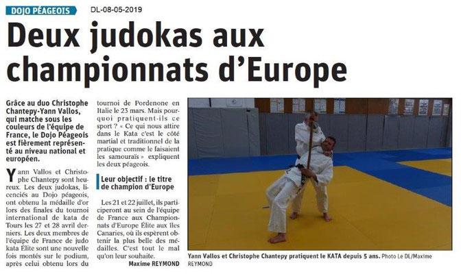Le Dauphiné Libéré du 08-05-2019- Judo de Bourg de Péage