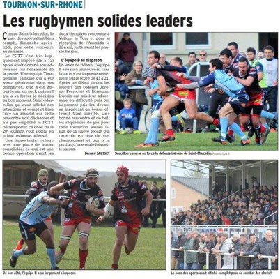 Dauphiné27-03-2018-Rugby-Tournon Libéré du