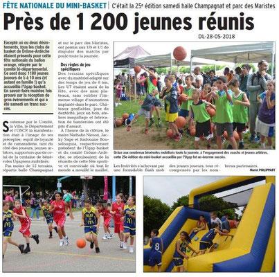 Dauphiné libéré du 28-05-2018-Mini Basket à Bourg de Péage