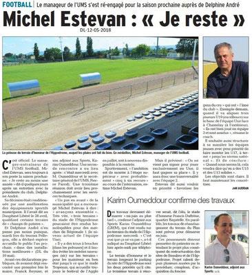 Dauphiné Libéré du 12-05-2018- Football Montélimar