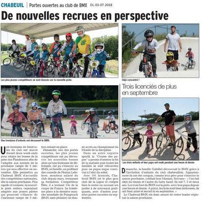 Dauphiné Libéré du 03-07-2018- BMX à Chabeuil