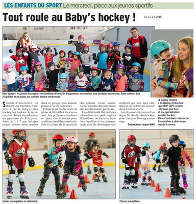 Dauphiné Libéré du 12-12-2018- Valence et les jeunes hockeyeurs