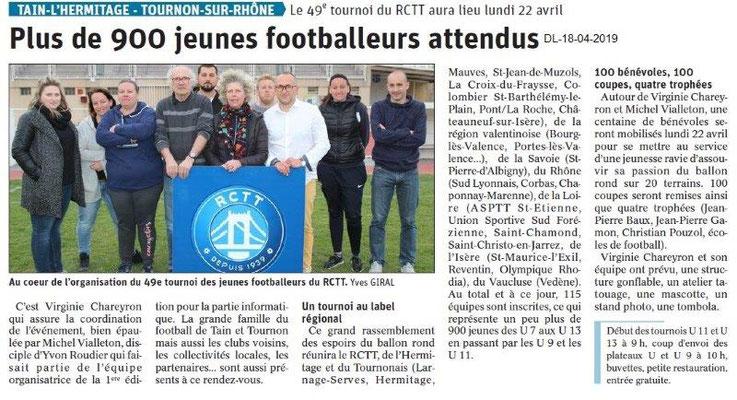 Le Dauphiné Libéré du 18-04-2019- 49e tournoi RCTT