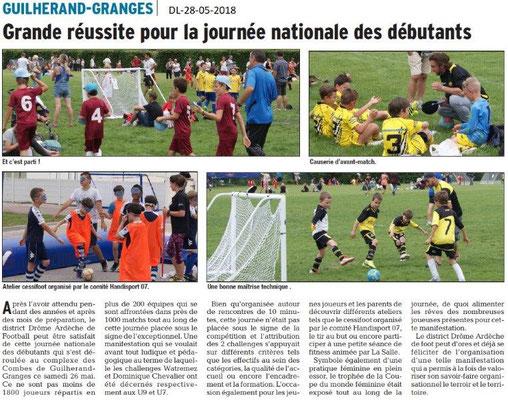 Dauphiné libéré du 28-05-2018- Foot à Guilherand-Granges
