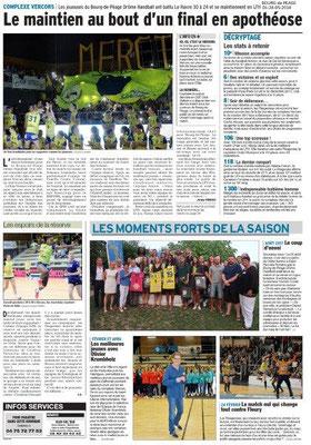 Dauphiné Libéré du 26-05-2018-Handball à Bourg de Péage