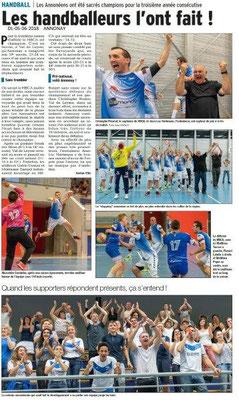 Dauphiné Libéré du 05-06-2018-Handball Annonay