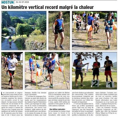 Dauphiné Libéré du 02-07-2018- KM Vertical