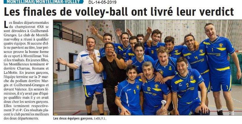 Le Dauphiné Libéré du 14-05-2019- Volley Montélimar