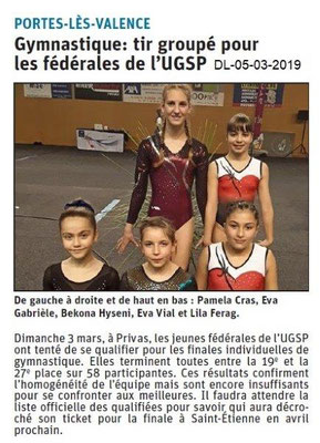 Le Dauphiné Libéré du 05-03-2019-UGSP Gym PLV