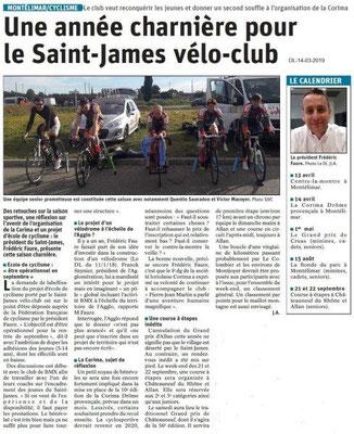 Le Dauphiné Libéré du 14-03-2019- Vélo-Montélimar