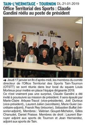 Dauphiné Libéré du 21-01-2019-OTSTT Election du président